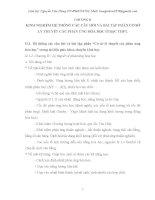 """KINH NGHIỆM HỆ THỐNG CÁC CÂU HỎI VÀ BÀI TẬP PHẦN """"CƠ SỞ LÝ THUYẾT CÁC PHẢN ỨNG HÓA HỌC"""" Ở BẬC THPT"""