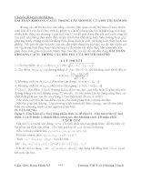 bài toán khoảng cách trong câu hỏi phụ của đồ thị hàm số
