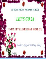 unit 2- lets learn some more  p2