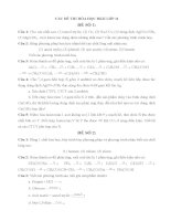10 đề thi Hóa học HKII lớp 11 cực hay