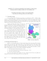 nghiên cứu áp dụng mô hình toán mike 11 tính toán dự báo chất lượng nước lưu vực sông cầu
