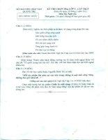 Đề thi HSG Cấp Tỉnh môn Sinh 9 2012-2013
