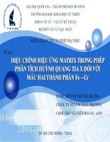 báo cáo hiệu chỉnh hiệu ứng matrix trong phép phân tích huỳnh quang tia x đối với mẫu hai thành phần fe cr
