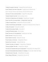 Các trường đại học bằng tiếng Anh