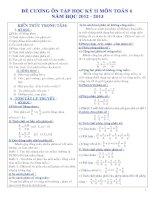 Đề cương ôn tập toán 6 HKII( theo chuẩn) năm học 2012 - 2013