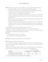Bài tập về đòn bẩy tài chính