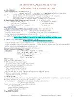 Đề cương ôn tập Anh 8 HKII 12- 13
