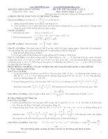 Đề Thi Thử 2013 của Bộ Giáo dục và đào tạo (Có đáp án chi tiết)