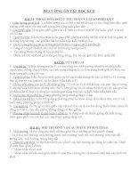 ĐỀ CƯƠNG ÔN TẬP SINH 9 HỌC KÌ II