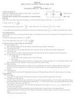 Đề cương ôn tập kì II vật lý 12