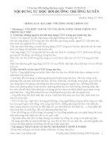 TỰ HỌC BỒI DƯỠNG THƯỜNG XUYÊN THCS MODULE 19,20