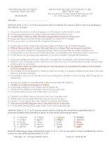 đáp án đề thi thử môn anh lần 3 năm 2012 chuyên sư phạm