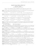 141 câu trắc nghiệm và 6 chủ đề giao thoa sóng cơ