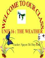 UNIT 16 : THE WEATHER - L1 : 1,2
