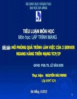 báo cáo tiểu luận môn lập trình mạng mô phỏng quá trình làm việc của 2  tcp ip
