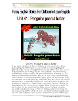 Unit 41:  Penguins peanut butter