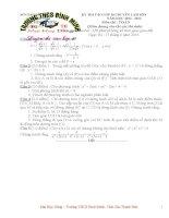 Tổng hợp các đề thi và đáp án vào lớp 10 môn Toán chuyên Lam Sơn-Thanh Hóa từ năm 09-13