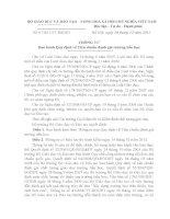 TT67-Quy định tiêu chuẩn đánh giá trường TH..