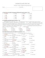 Dề thi học kỳ 2 môn Tiếng Anh 10