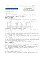 DE THI HSG DIA LY 12 TINH BINH PUOC NAM 2012