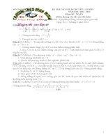 Tổng hợp các đề thi và đáp án vào lớp 10 môn Toán chuyên Lam Sơn-Thanh Hóa
