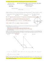 giải chi tiết đề thi thử đại học môn vật lý lần 2 của trường chuyên Hà Tĩnh
