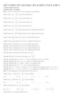 đề cương ôn tập HKII toán 9
