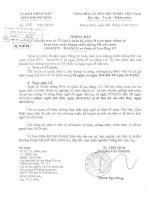 Thông báo nghỉ lễ 30/4 và 01/5/2013