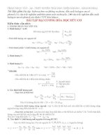 Các dạng toán hữu cơ tổng hợp 11NC