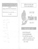 Bài tập toán 10 học kỳ 2 THPT marie curie