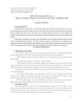 Chuyên đề một số biện pháp về công tác chủ nhiệm lớp