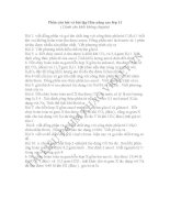 10 bài tập tham khảo hóa 11 nâng cao