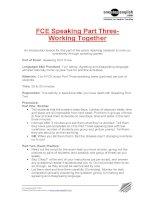 FCE Speaking Part Three-Working Together.