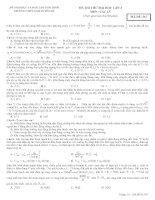 Đề thi thử DH lần 2 Trường THPT Nam Duyên Hà