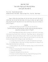 Bài Dự Thi tìm hiểu Nghị quyết Đại Hội đoànn lần X