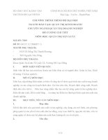 CHƯƠNG TRÌNH TRÌNH ĐỘ ĐẠI HỌC NGÀNH ĐÀO TẠO: QUẢN TRỊ KINH DOANH CHUYÊN NGÀNH QUẢN TRỊ DOANH NGHIỆP ĐỀ CƯƠNG CHI TIẾT MÔN HỌC: QUẢN TRỊ SẢN XUẤT