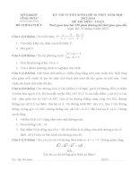 Đề thi và đáp án vào lớp 10 môn toán tỉnh vĩnh phúc năm 2013