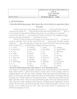 Đề thi tuyển sinh 10 nh 13-14