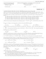 đề thi thử THPT văn giang lần 3 năm 2013