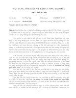 Bài dự thi tim hiểu về tấm gương đạo đức Hồ Chí Minh