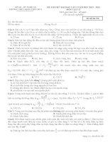 Đề thi thử Lần 1 năm 2013 - THPT Đặng Thúc Hứa - Thanh Chương
