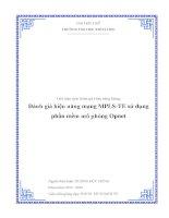 Đánh giá hiệu năng mạng MPLS TE sử dụng phần mềm mô phỏng opnet