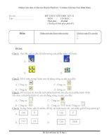 đề thi tin học lớp 3 k2