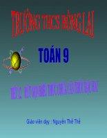 bài giảng đại số 9 chương 1 bài 8 rút gọn biểu thức chứa căn thức bậc hai
