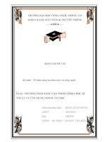 báo cáo mạng thông tin và truyền thông đề tài PHƯƠNG PHÁP SÁNG tạo TRONG KHOA học kĩ THUẬT và ỨNG DỤNG TRONG TIN học