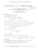 Đáp án đề thi vào lớp 10 chuyên lý ĐHSP Hà Nội