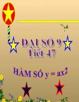 bài giảng đại số 9 chương 4 bài 1 hàm số y=ax2