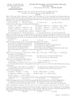 đề thi thử lần 3 môn Hoá THPT chuyên Lê Quý ĐÔn