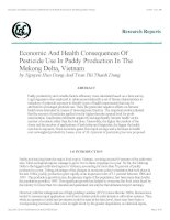 economic and health consequences of pesticide use in paddy production in the mekong delta, vietnam