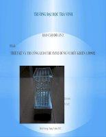 Báo cáo đồ án thiết kế đèn led khối 5x5x5
